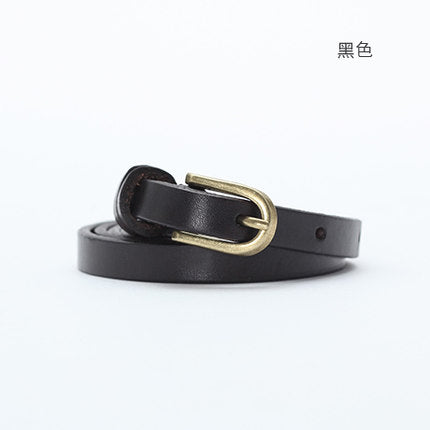 Toyouth Belts Women New Arrival Solid Color All Match Metal Buckle Fine Leather Belt Female