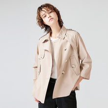 Toyouth 2017 Autumn New Trench Coat Turndown Collar Singlebreasted  Long Sleeves Short Trench Coat Casual Coat