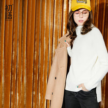 Toyouth Sweater 2017 Winter Women Loose Solid Color Turtleneck Straight Casual Knitted Pullover Female