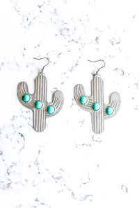 The Desert Cactus Earring - SILVER