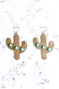 The Desert Cactus Earring - GOLD