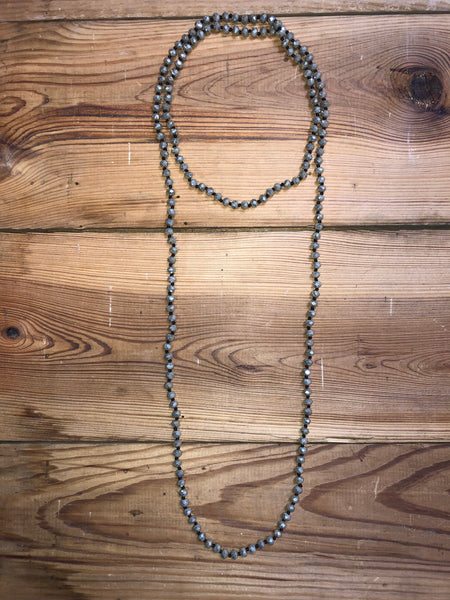 Large Beaded Crystal Necklace