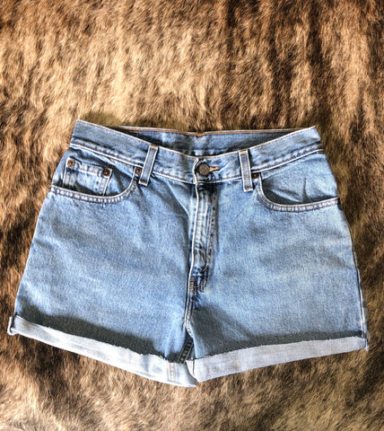 Levi High Waisted Cut Offs