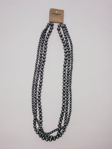 Long Navajo Pearl Necklace - 3 Size Strand