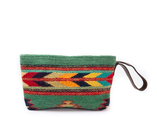 Sun + Sea Wool Wristlet Clutch by MZ Fair Trade