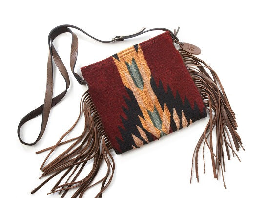 Shadow Leather Fringe Bag by MZ Fair Trade