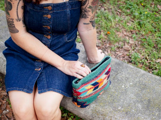 Sun + Sea Wool Clutch by MZ Fair Trade