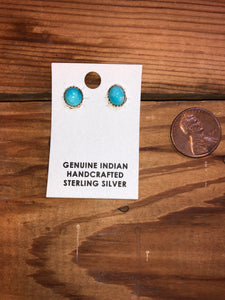 Sterling Silver & Turquoise Studs