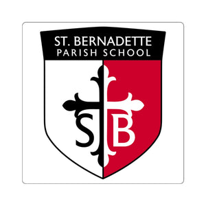 St Bernadette Square Stickers