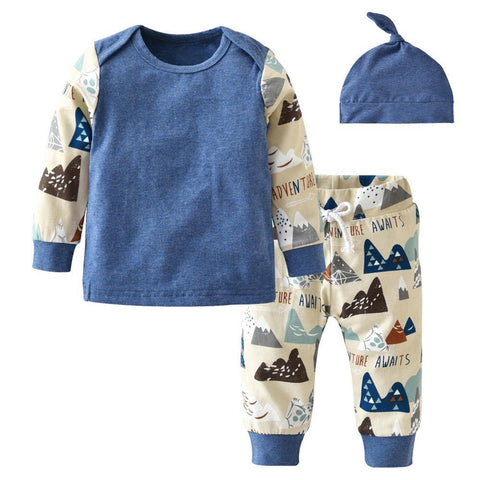 Blue soft baby outfit - Toddlerist
