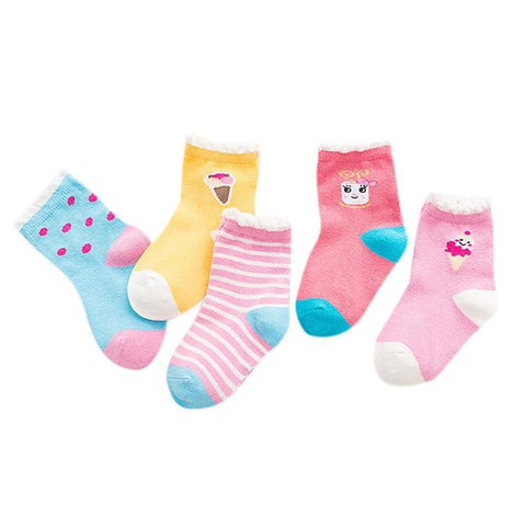 5pair/lot Kids Socks - Toddlerist