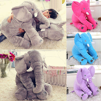 Cuddly sleeping elephant pillow - Toddlerist