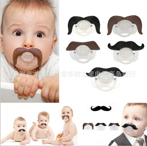 Mustache pacifier - Toddlerist