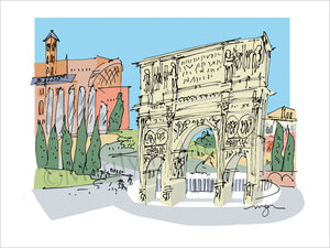 Italy: Rome Arch of Constantine