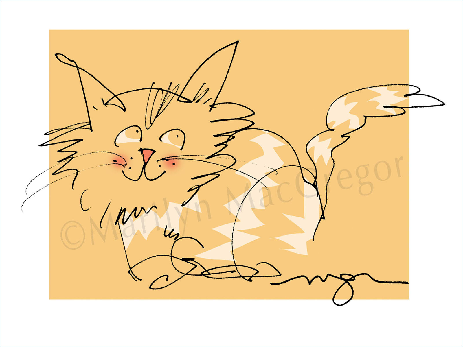 Cats&Dogs: Yellow Stripe Cat