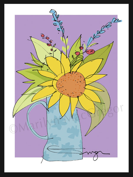 FLEURS: Sunflower Pitcher