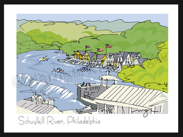Philadelphia: Boathouse Row/The Schuylkill River