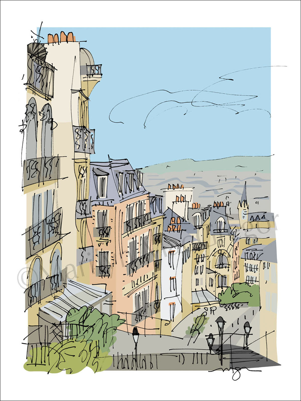 France: Paris Montmartre View