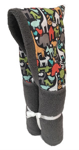 Animal World Charcoal Grey Hooded Towel
