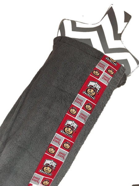 Ohio State Charcoal Towel Wrap, Personalization available