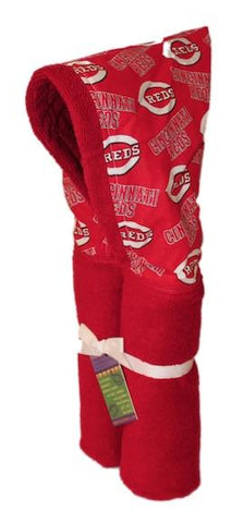 Cincinnati Red Red Hooded Towel