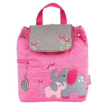 Pink Elephant Quilted Backpack