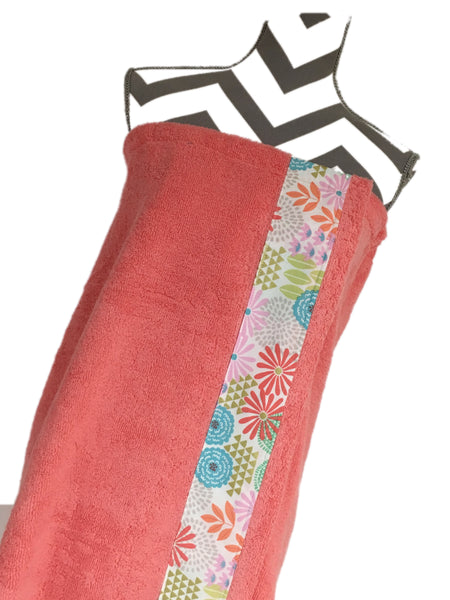 Julianne Coral Towel Wrap