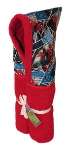 Spiderman Red Hooded Towel