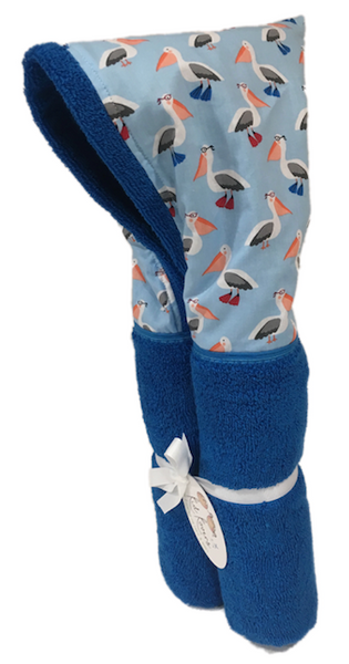 Pelican Paddle Azure Blue Hooded Towel