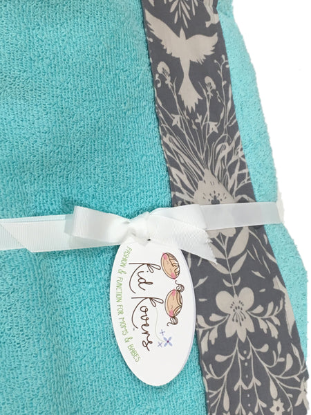 Silhouette Birds Tiffany Towel Wrap, Personalization available