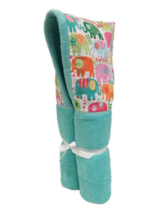 Happy Elephants Tiffany Hooded Towel