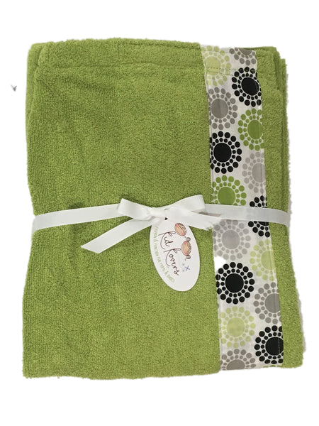 Lime Concentric Circles Towel Wrap