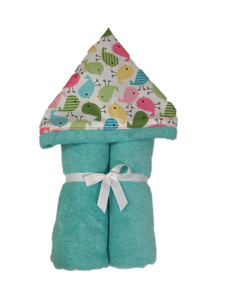 Cute Birds Tiffany Hooded Towel