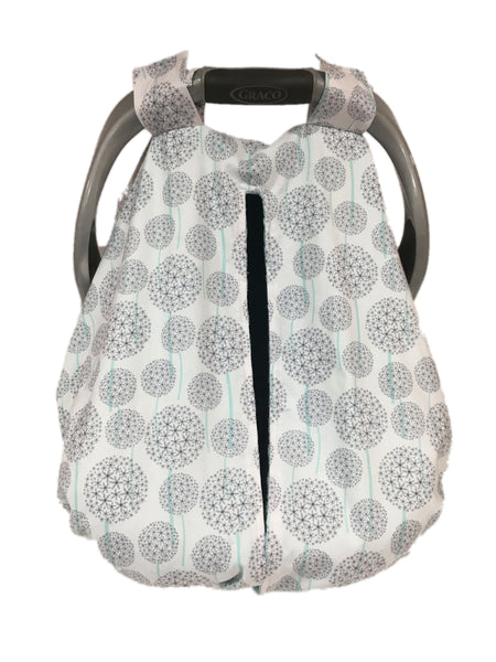 Dandelions Car Seat Kovers with Tiffany Minky Interior
