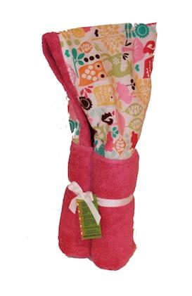 Watermelon Wildlife Carnival Pink Hooded Towel