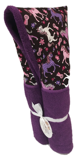 Prize Ponies Violet Hooded Towel