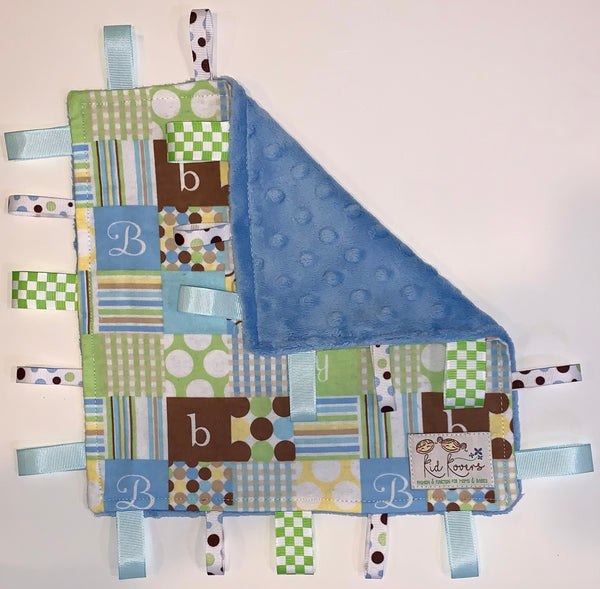 Baby Boy Blue Taggie Blanket