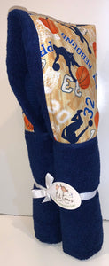 Basketball Navy Hooded Towel