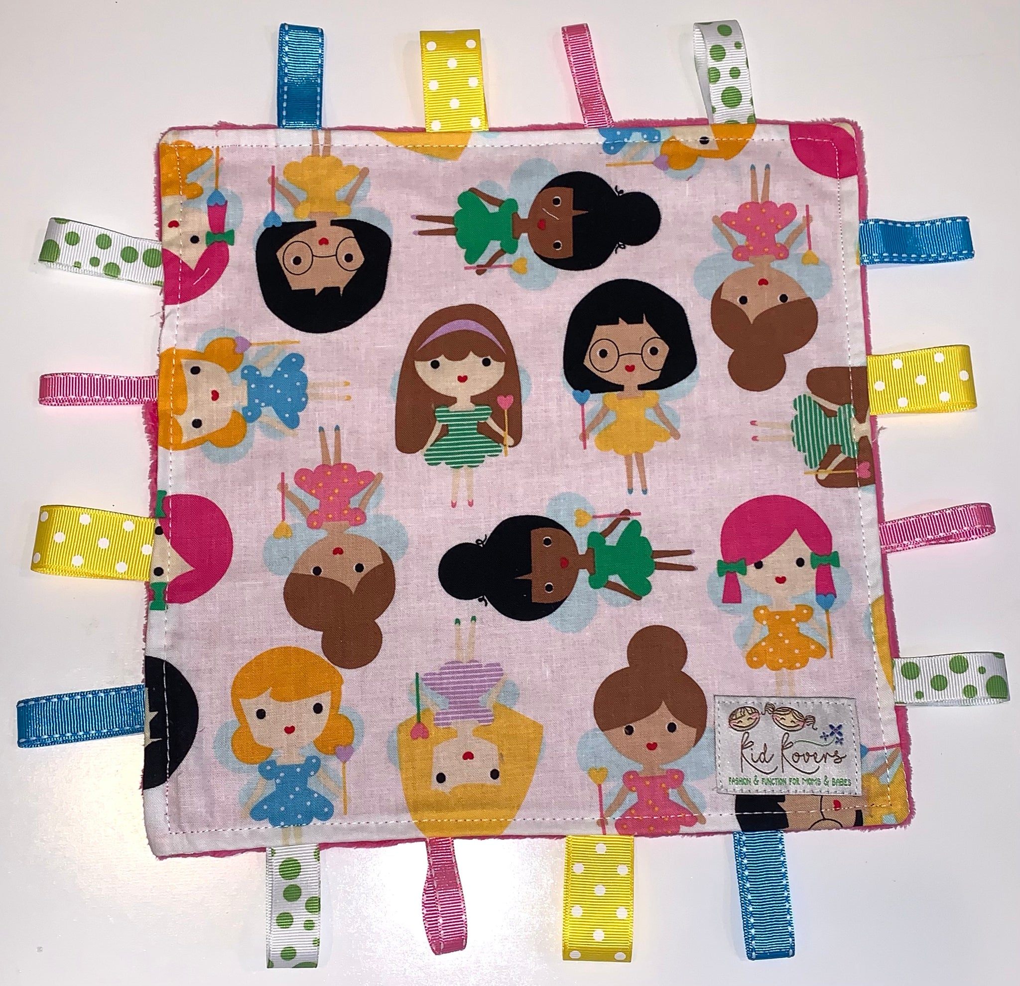 Fuchsia Girl Friends Taggie Blanket