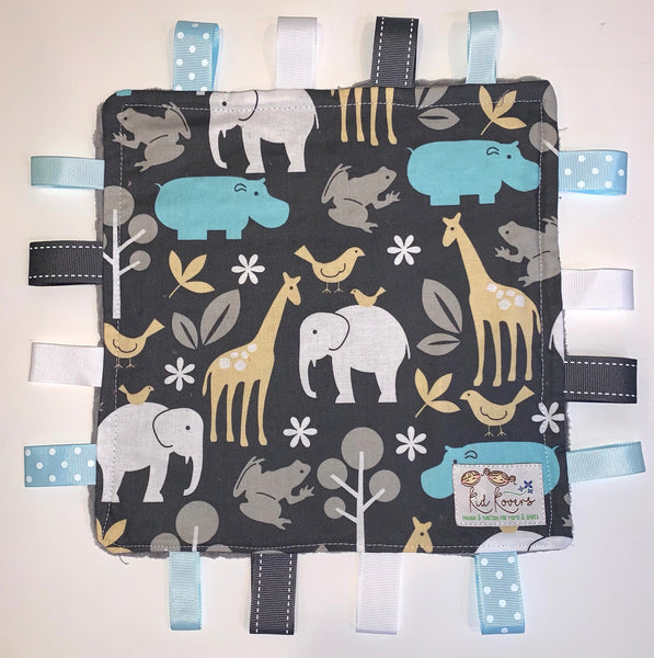 Sea Zoology Grey Taggie Blanket