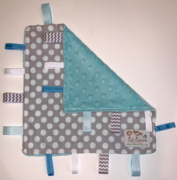 Grey Spot On Light Blue Taggie Blanket
