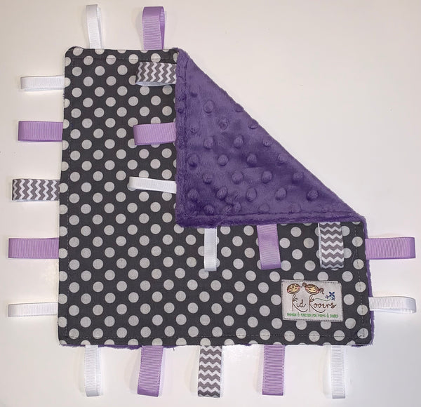 Grey Spot On Purple Taggie Blanket