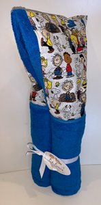 Peanuts Azure Blue Hooded Towel