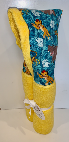 King of the Jungle Yellow Hooded Towel