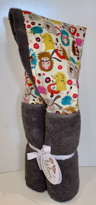 Hedgehog Grey Hooded Towel