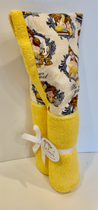 Beauty and the Beast Yellow Hooded Towel
