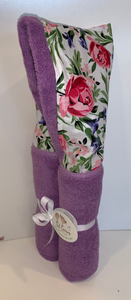 Bed of Roses Lavender Hooded Towel