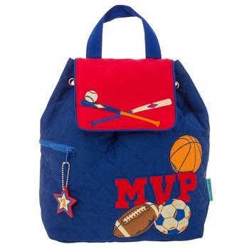 MVP Sports Blue Quilted Backpack
