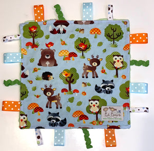 Woodland Pals Lime Green Taggie Blanket