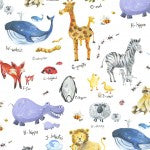 Alphabet Animals Hooded Towel